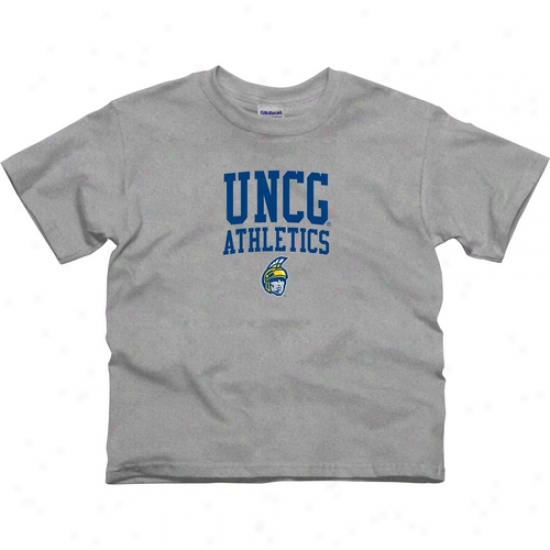 Unc Greensboro Spatrans Youth Athletics T-shirt - Ash