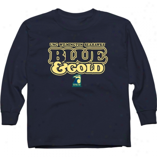Unc Wilmington Seahawks Young men Our Colors Long Sleeve T-shirt - Navy Blue