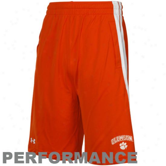 Under Armour Clemson Tigers  Orange Twister Performance Shorts