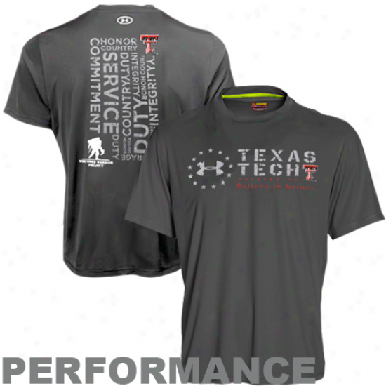 Under Armour Texas Tech Red Raiders Wounded Soldier Project Catalyst Performance T-shirt - Charcoal
