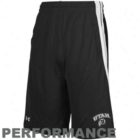 Under Armour Utah Utes Black Twister Performance Shorts