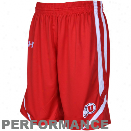 Under Armour Utah Utes Red Replica Heatgear Performance Basketball Shorts