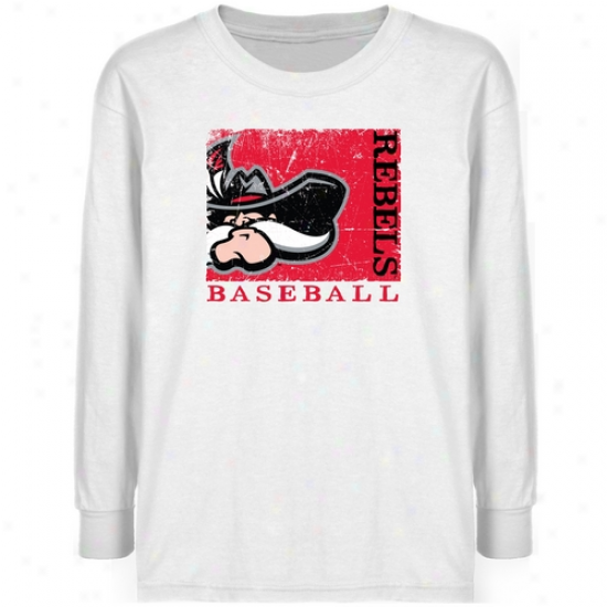 Unlv Rebels Youth White Sport Stamp T-shirt