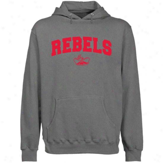 Unlv Runnin Rebels Gunmetal Mascot Arch Lightweight Pullover Hooddy