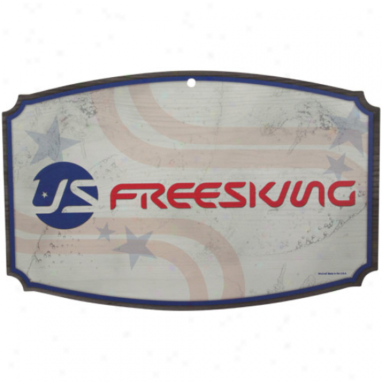 U.s. Freeskiing 11'' X 17'' Forest Sign