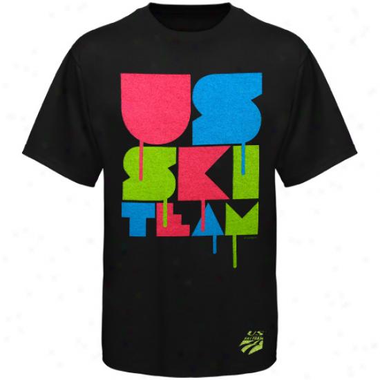 U.s. Ski Team Disco Ski T-shirt - Black