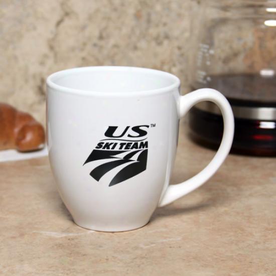 U.s. Ski Team White 15oz. Ceramic Bistro Mug