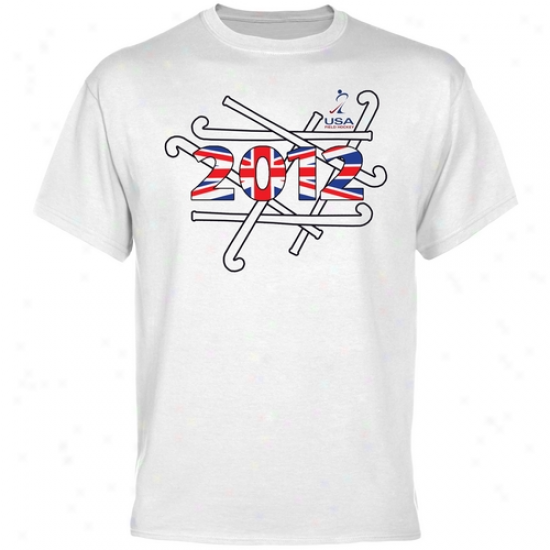 Usa Field Hocke6 London Bound T-shirt - White