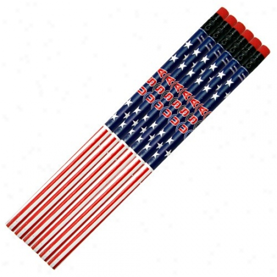 Usa Olympic Team 6-pack Team Logo Pencil Set