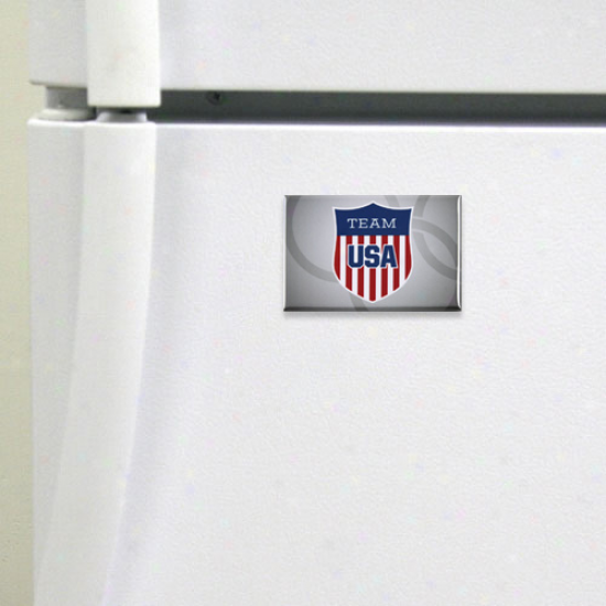 Usa Olympic Team Crest Rectangle Mahnet