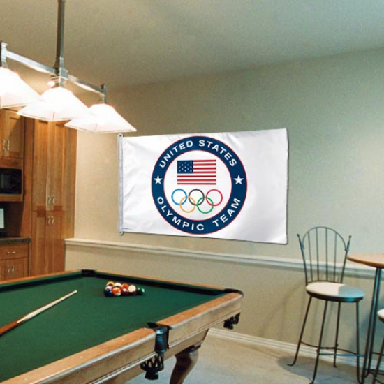 Usa Olympics 3' X 5' Emblem Flag
