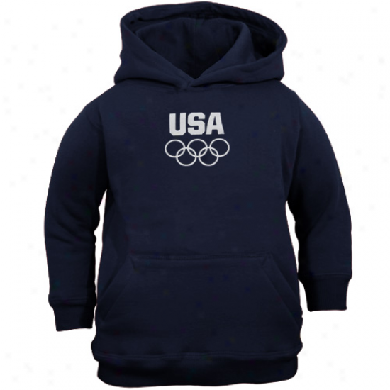 Usa Olympics Infant Ships Blue Team Usa Prikary Logo Pullover Hoodie