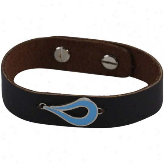 Usa Swimming Make A Splash Brown Leather Bracelet