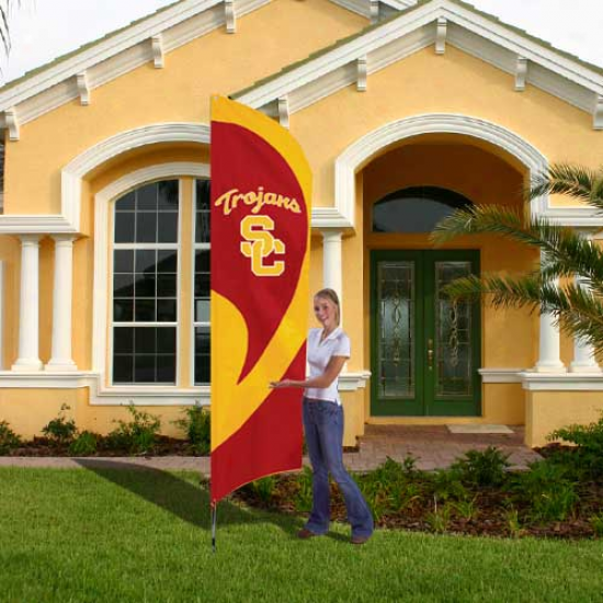 Usc Trojans 8.5' Tall Applique Team Flag