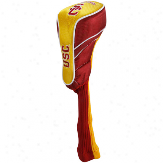 Usc Trojans Cardinal-gold Individual Driver Headcover