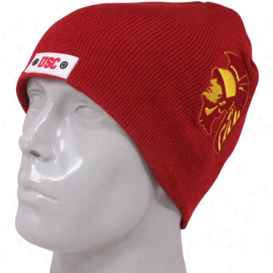 Usc Trojans Cardinal Original Helmet Beanie
