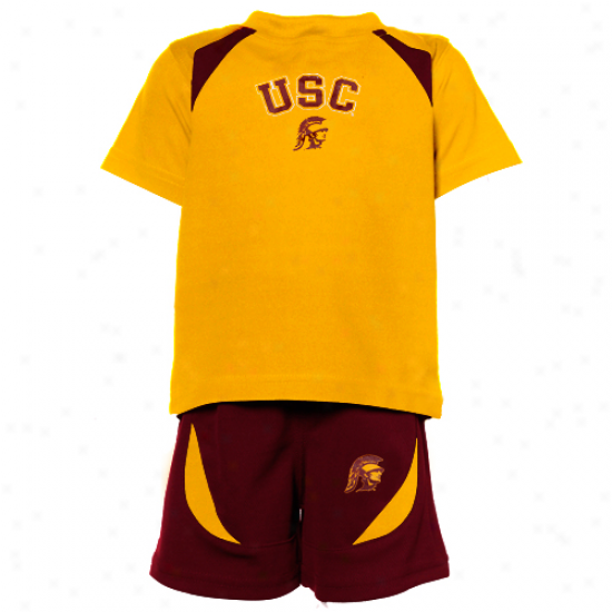 Usc Trojans Infant T-shirt & Shorts Set - Gold/cardinal