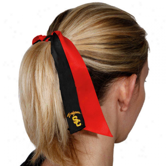 Usc Trojans Streamer Ponytail Holder