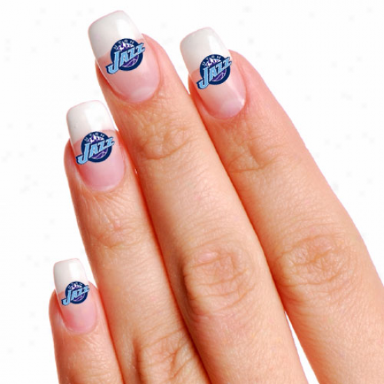 Utah Jazz 4-pack Temporary Nail Tattoos