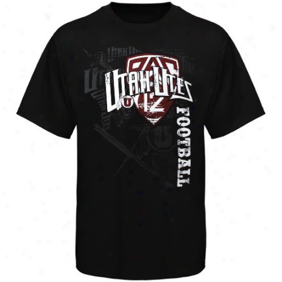 Utahh Utes Football Fan T-shirt - Black