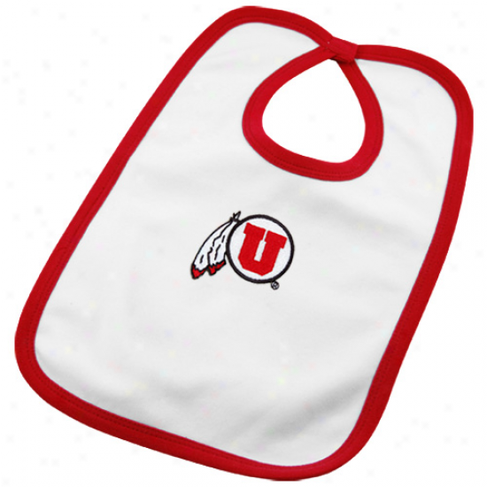 Utah Utes Infant White Team Logo Cotton Bib