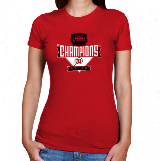 Utah Utes Ladies 2011 Sun Bowl Champions T-shirt - Red