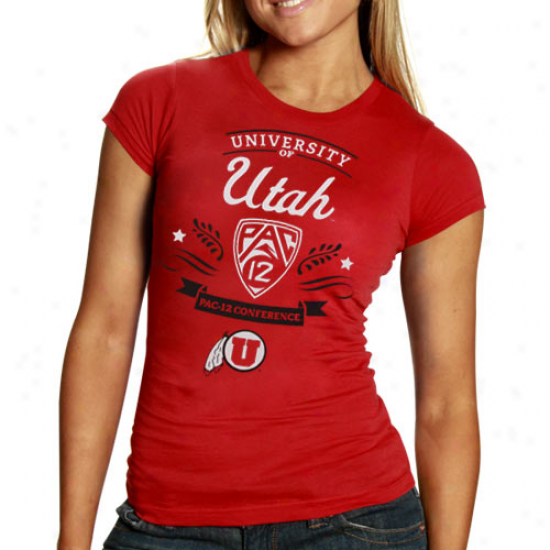 Utah Utes Ladies Pac-12 Introduction Classic Fit T-shirt - Red