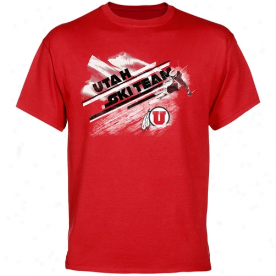 Utah Utes Ski Team T-shirt - Red