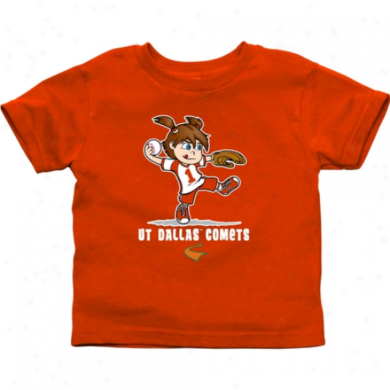 Utd Comets Infant Girls Softball T-shirt - Orange