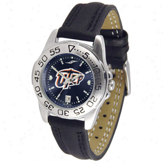 Utep Miners Lasies Sport Leather nAochrome Watch