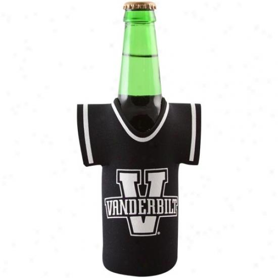 Vanderbilt Commodores Black Jersey 12oz. Bottle Coolie