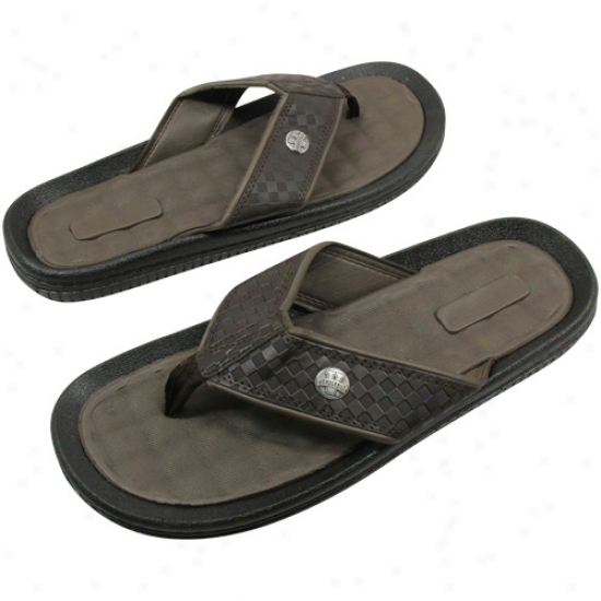 Vanderbilt Commodores Brown Weave Flip Flop Sandals