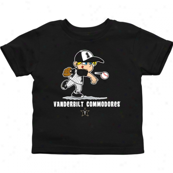Vanderbilt Commodores Infant Boys Baseball T-shirt - Black