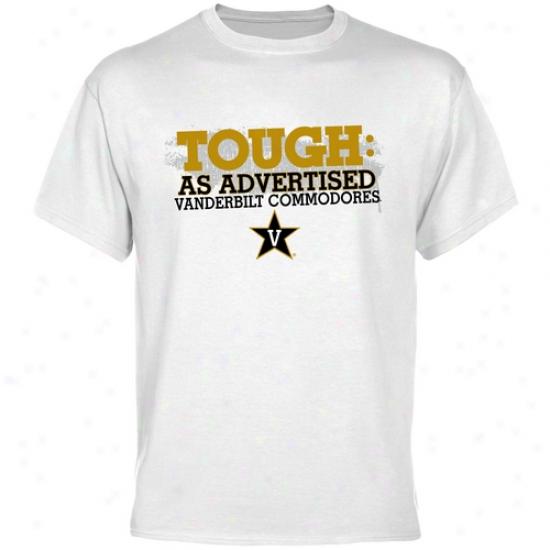 Vanderbilt Commodores White As Advertised T-shirt