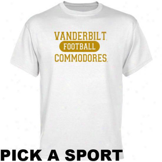 Vanderbilt Commodores White Custom Sport T-shirt -