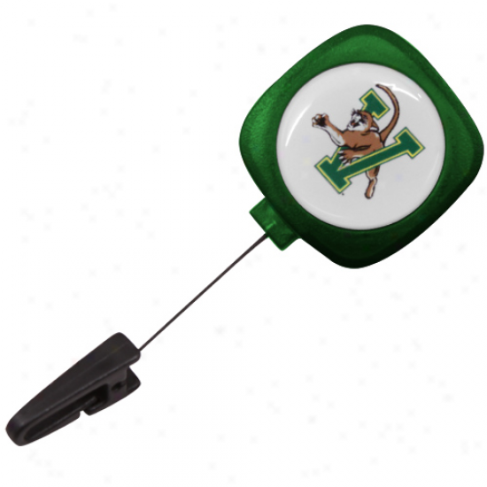 Vermont Catamounts Green Id Badgee Reel