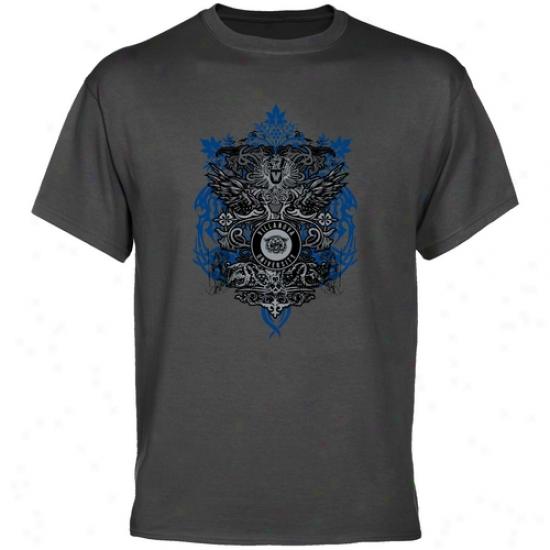 Villanova Wildcats Charcoal Shield Of Arms T-shirt
