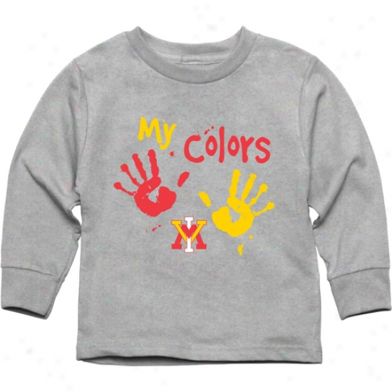 Virginia Military Institute Keydets Toddler My Colors Long Sleeve T-shirt - Ash