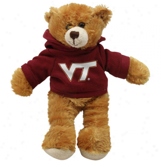 Virginia Trch Hokies 8'' Plush Hoodie Bear -