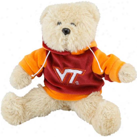 Virginia Tech Hokies 8'' Plush Hoodie Bear-