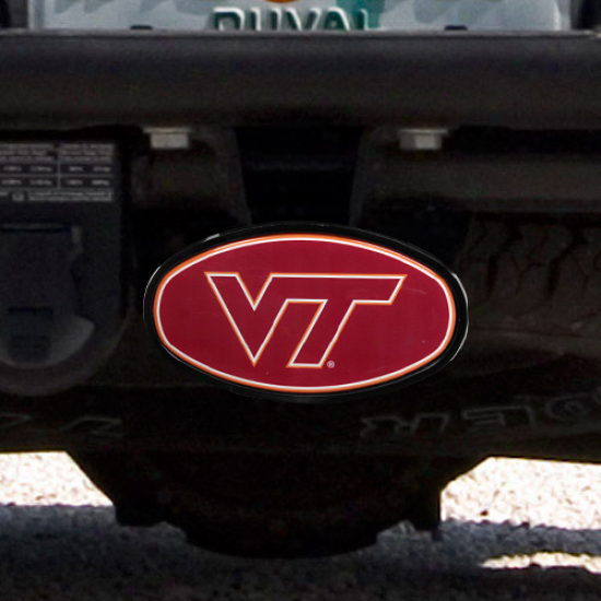 Virginia Tech Hokies Domed Logo Plastic Hitch Cover