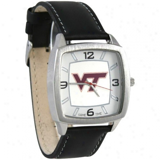 Virginia Tech Hokies Leather Banded Retro Watch