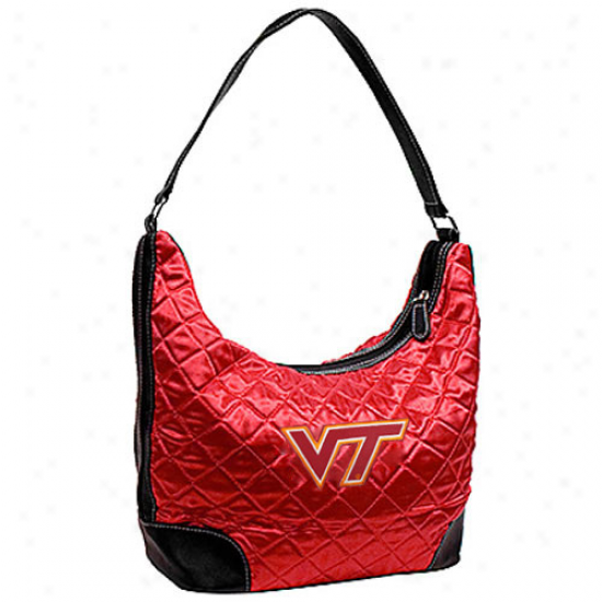 Virginia Tech Hokies Maroon Quilted Hkbo Purse