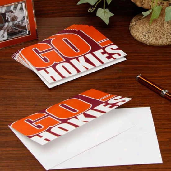 Virginia Tech Hokies Slogan Note Cards