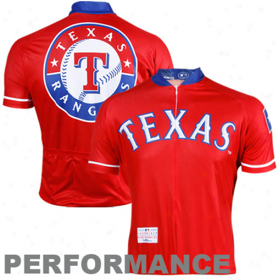 Vomax TexasR angers Stock Performance Cycling Jersey - Red