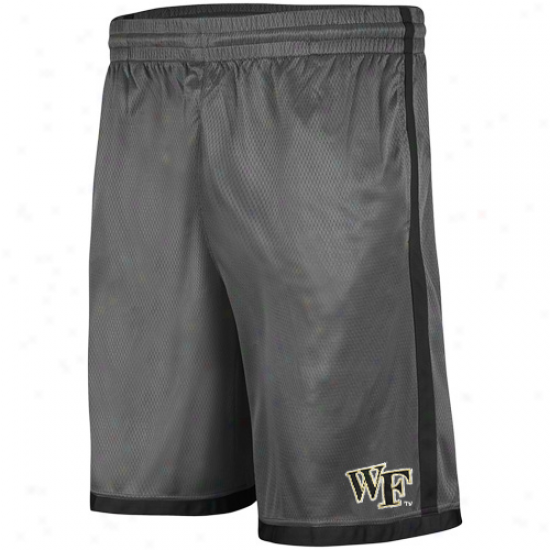 Wake Foreqt Demon Deacons Draft Mesh Shorts - Charcoal