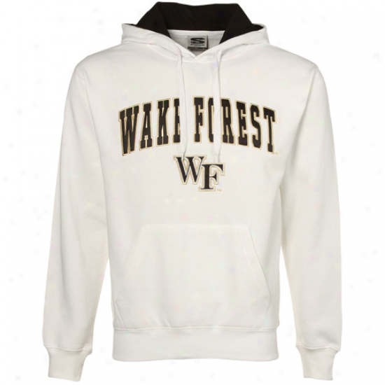 Wake Forest Spirit Deacons Wite Classic Twill Hoody Sweatshirt