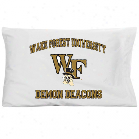 Wake Forest Demon Deacons White Traditional Pillow Case