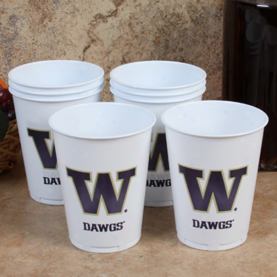 Washington Huskies 8-pack 14oz. Plastic Orgies