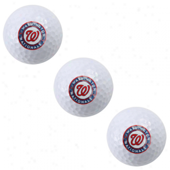 Washington Nationals 3-pack Golf Ball Sleeve